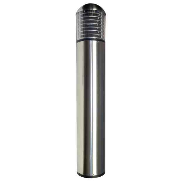 Round Louvered Stainless Steel Light Bollards