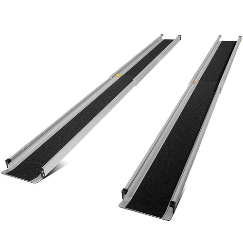 Lightweight, aluminium, retractable ramp.