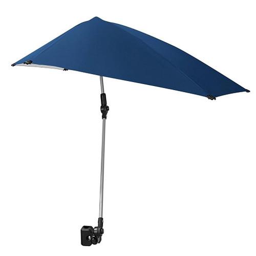 Umbrella with clamp.