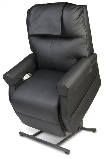 Eclipse Tuscany Lift Chair, Black Leather