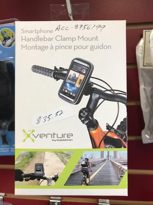 Clamp on phone holder