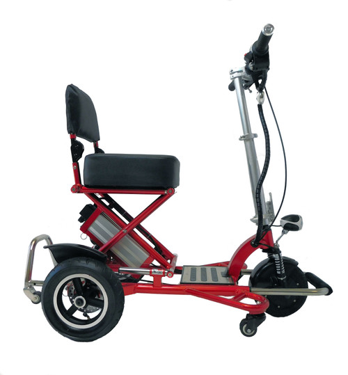 Folding powered scooter