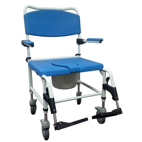Aluminum bariatric rehab shower commode chair