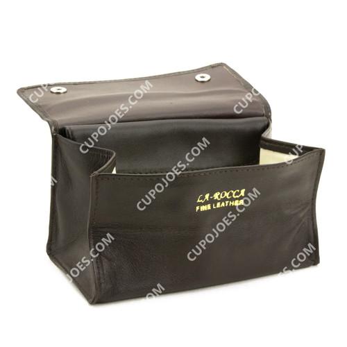 La Rocca Brown Leather Tobacco Box Pouch