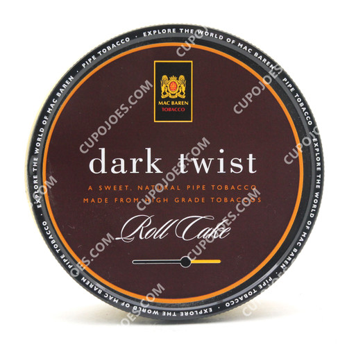 Mac Baren Dark Twist Roll Cake 3.5 Oz Tin