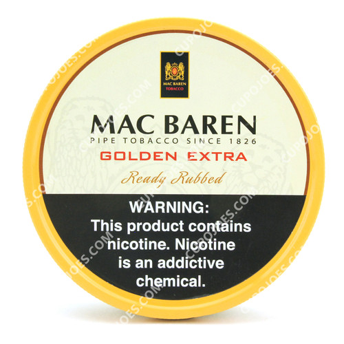 Mac Baren Golden Extra Ready Rubbed 3.5 Oz Tin