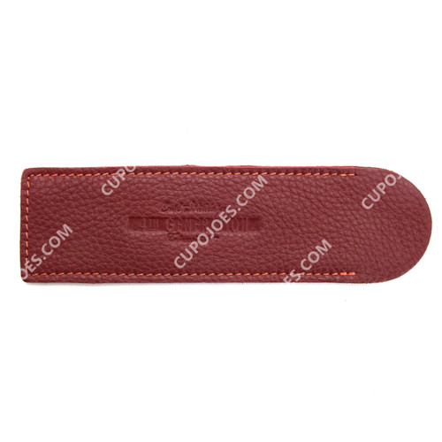 Erik Stokkebye 4th Generation Leather Pipe Cleaner Sleeve Red