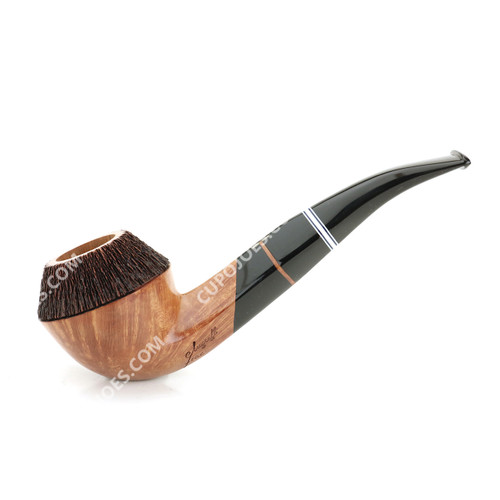 Amorelli Frac 2 Star Partially Rusticated Bent Bulldog Pipe