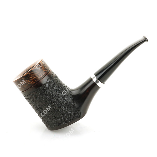 Caminetto Poker Calabash Black Sandblast Pipe 08-37