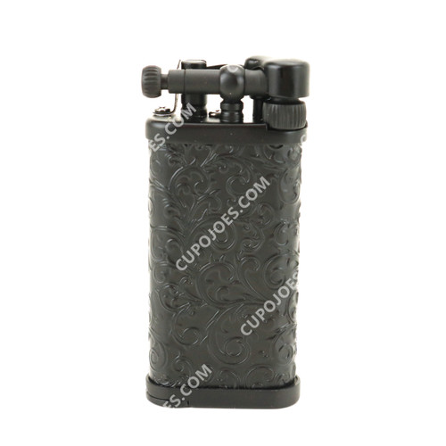 Corona Old Boy Arabesque Black Pipe Lighter #649525