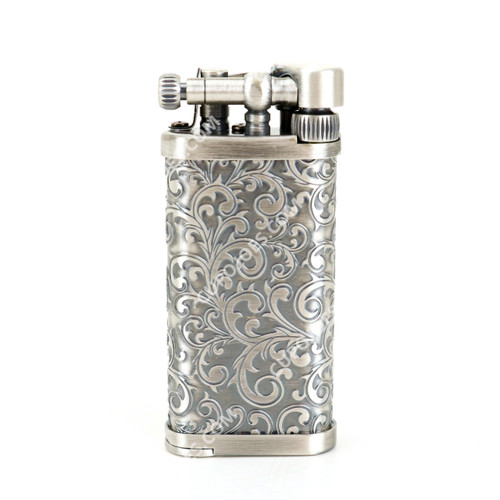 Corona Old Boy Arabesque Silver Pipe Lighter #647525