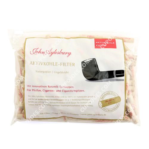 John Aylesbury 9mm Charcoal Filters Bag of 200