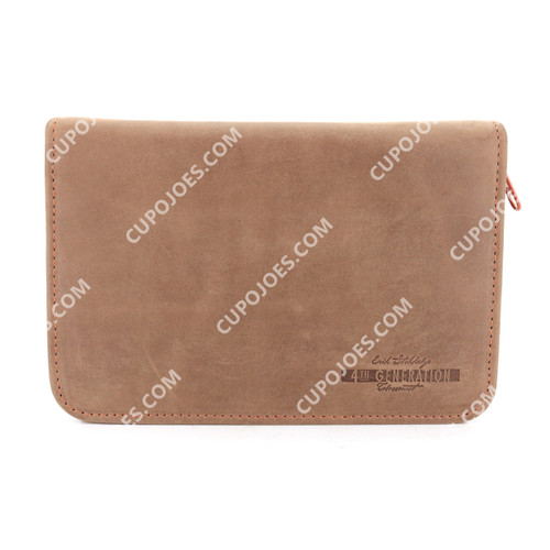 Erik Stokkebye 4th Generation Hunter Brown 3 Pipe Zipper Pouch
