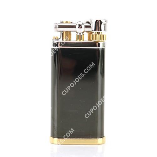 Dunhill Unique Black Lacquer Palladium & Gold Plate Pipe Lighter (dunUBLPDP)