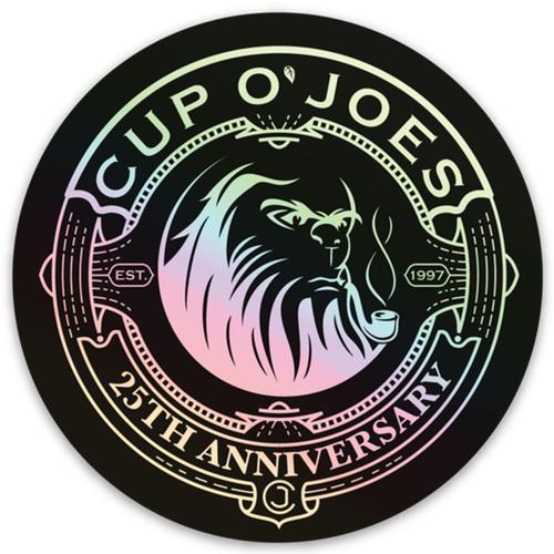 Cup O' Joes 25th Anniversary Yeti Sticker (coj25sticker)