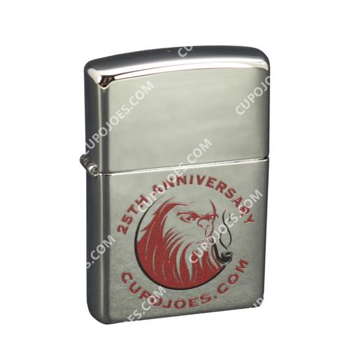 Cup O' Joes 25th Anniversary Zippo Pipe Lighter Chrome (zpcoj25bchr)
