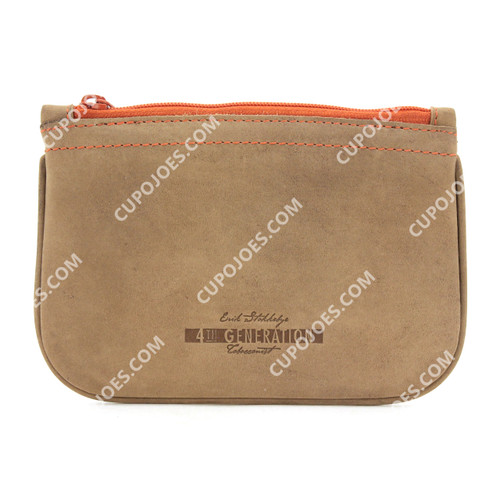 Erik Stokkebye 4th Generation Hunter Brown Zipper Tobacco Pouch