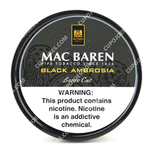 Mac Baren Black Ambrosia Mixture 3.5 Oz Tin