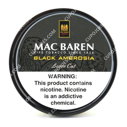 Mac Baren Black Ambrosia Mixture 3.5 Oz Tin