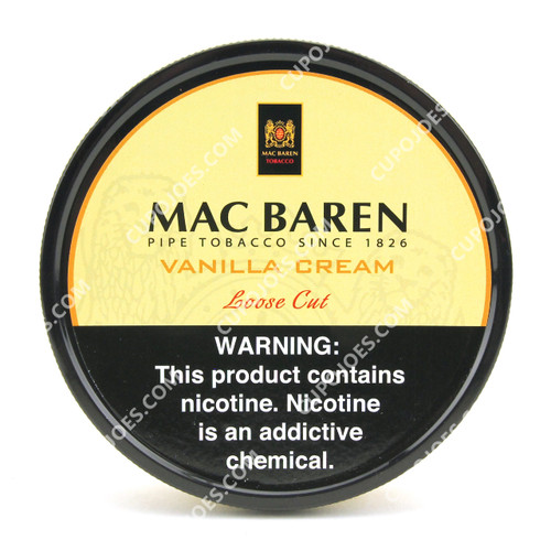 Mac Baren Vanilla Cream Flake Cut 1.75 Oz Tin
