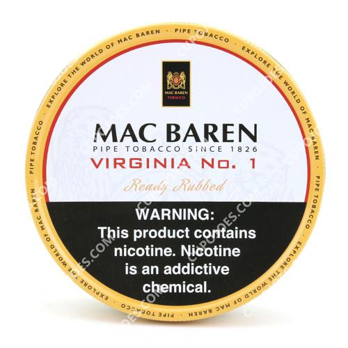 Mac Baren Virginia No.1 Ready Rubbed 3.5 Oz