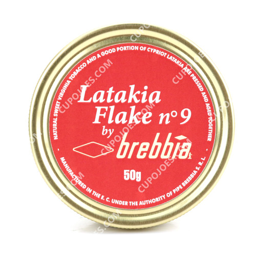 Brebbia Latakia Flake No. 9 50g Tin