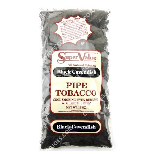 Super Value Black Cavendish Pipe Tobacco 12 Oz Bag