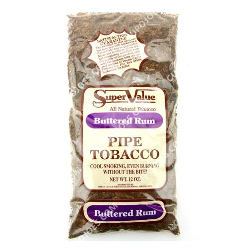 Super Value Buttered Rum Pipe Tobacco 12 Oz Bag