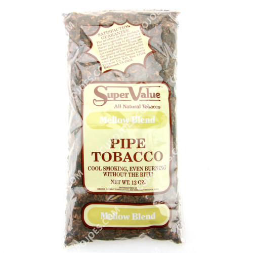 Super Value Mellow Blend Pipe Tobacco 12 Oz Bag