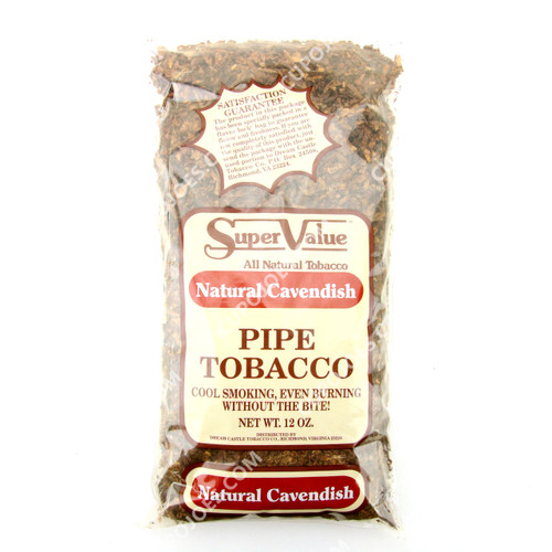 Super Value Natural Cavendish Pipe Tobacco 12 Oz Bag