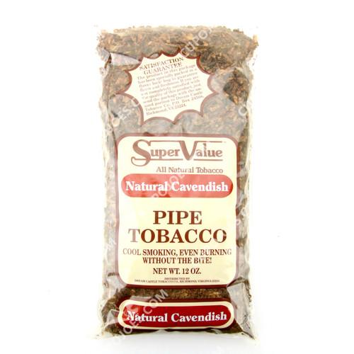 Super Value Natural Cavendish Pipe Tobacco 12 Oz Bag