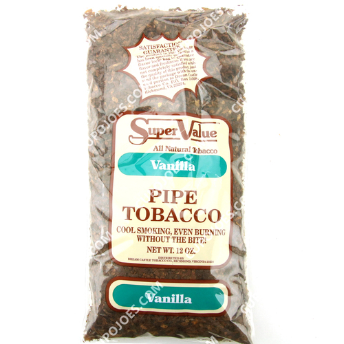 Super Value Vanilla Pipe Tobacco 12 Oz Bag