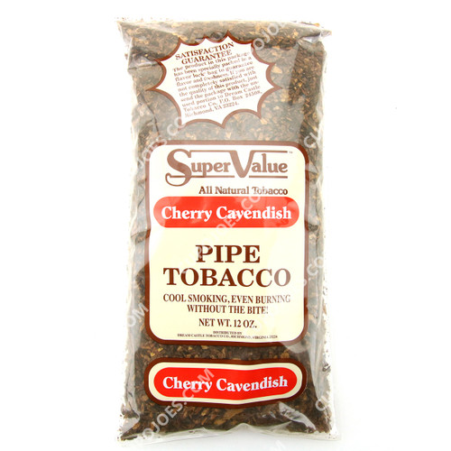 Super Value Cherry Cavendish Pipe Tobacco 12 Oz Bag