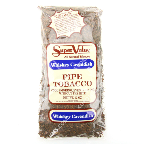 Super Value Whiskey Cavendish Pipe Tobacco 12 Oz Bag