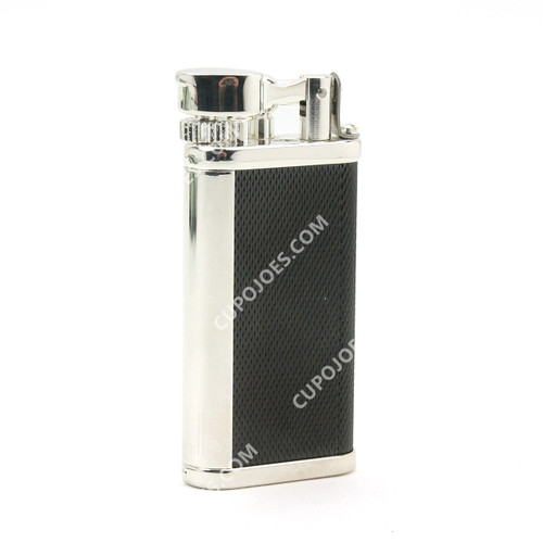 Dunhill Unique Barley/Black Silver Plate Lighter