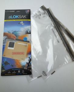 2 Aloksak 3 x 6 New Double Zipper Waterproof Airtight Pouch Bags LOKSAK