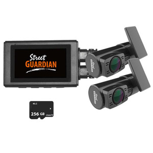 Street Guardian SG9663DR Dual Channel 1080P Dash Camera With 128GB Memory Card