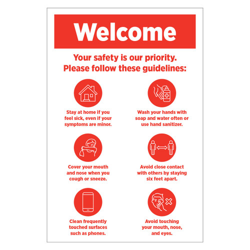 24x36 Safety Guidelines Corrugated Sign