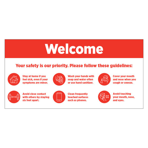 3'x6' Safety Guidelines Banner