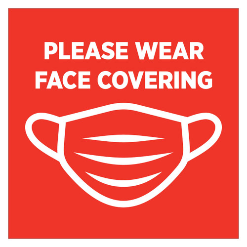 Face Covering Window Clings (set of 4)