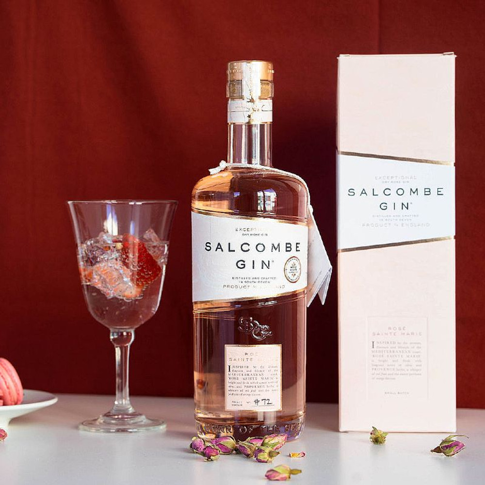 A beautiful Pink gin from the Salcombe Gin distillery in Devon