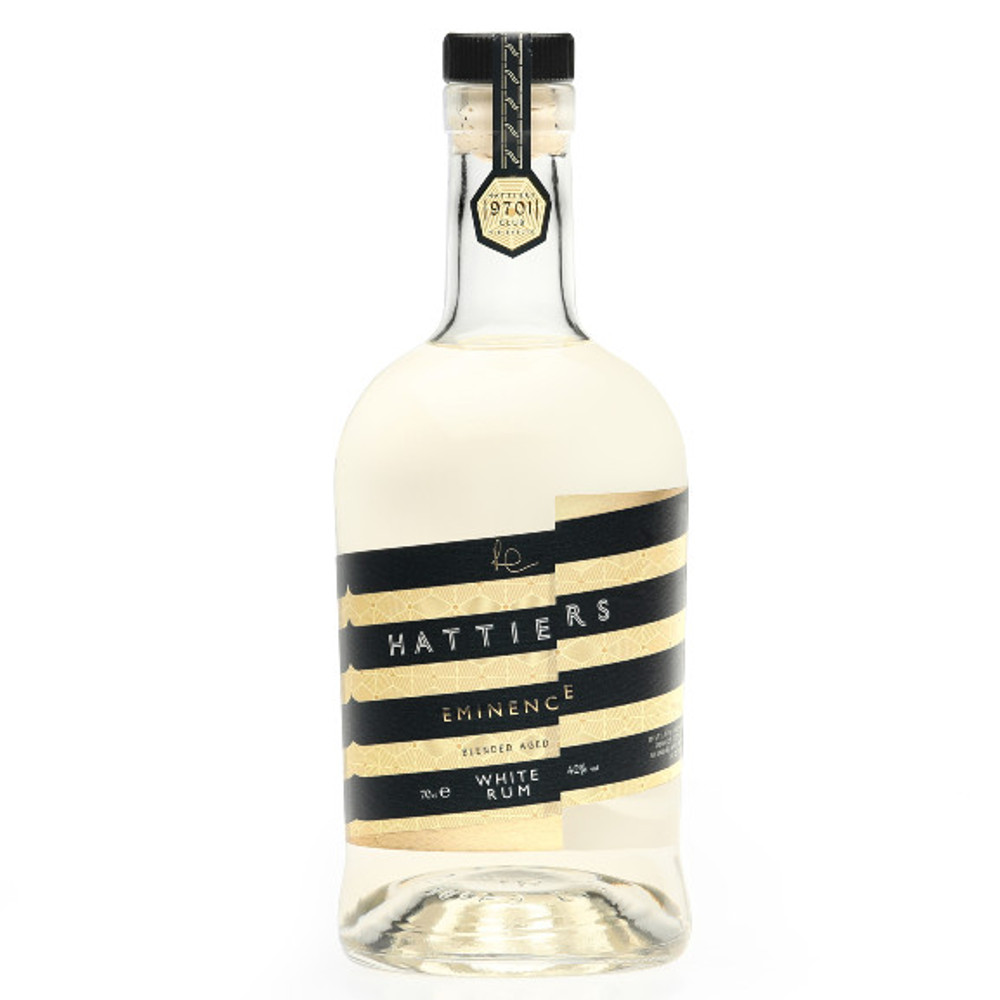Hattiers Eminence is a white rum with a difference, it is a creamy white rum with notes of pineapple, fudge, nectarine, grass, banana chips, nougat, walnut oil and vanilla custard. Perfect for making cocktails or drinking neat.