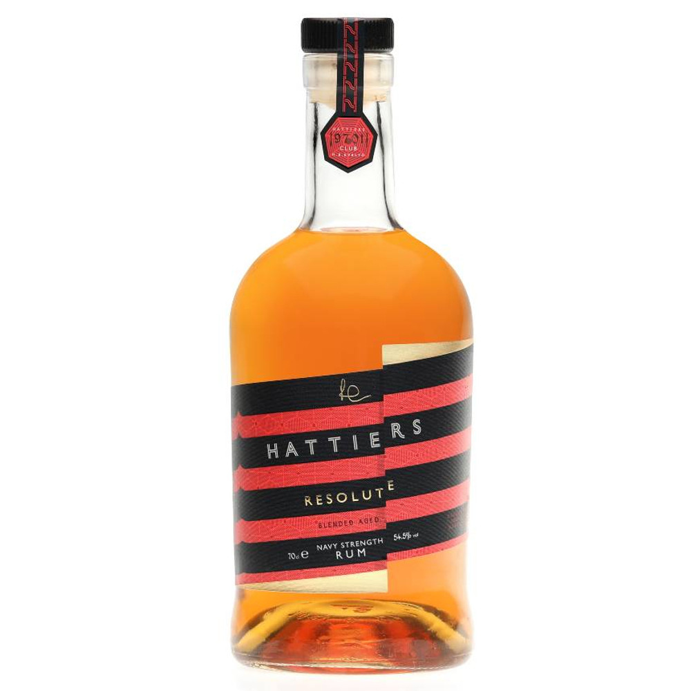 Hattiers Resolute Navy Strength Rumis just the kind of rum you want to pour when you've been soaked to the bone or have spent a long day out in the cold.