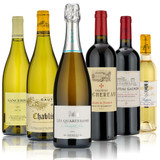 Six bottles, chosen to perfectly compliment the classic Christmas Day lunch: Cremant, Sancerre, Chablis, Claret and Sauternes