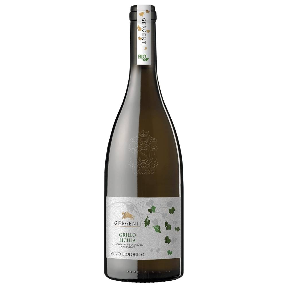 Gergenti Organic Grillo is a light straw yellow colour, fruity with a finish of Sicilian citrus.