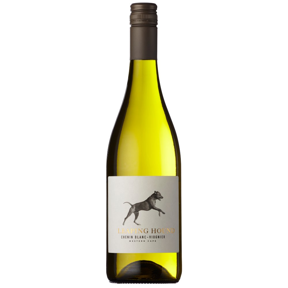 Leaping Hound Chenin Blanc Viognier is vibrant and aromatic with delicious generous fresh apricot, white peach and hints of jasmine.