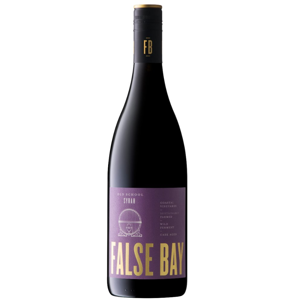 False Bay 'Old School' Syrah ia an homage to the savory, wild yet elegant wines of South Africa.