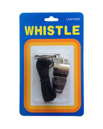 Whistle Metal with Lanyard