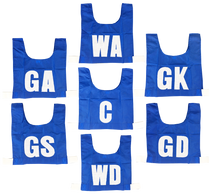 Netball Bib Set - Junior/Intermediate/Senior - Multiple Colours