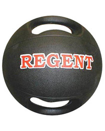Medicine Ball  - Rubber Moulded with Handles - 4 kg